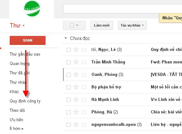 Su dung nhan de to chuc email 4