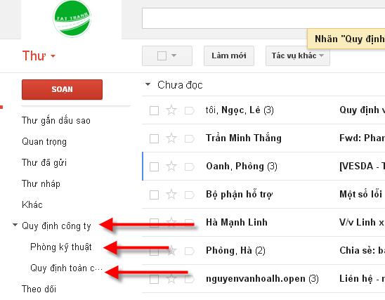 Su dung nhan de to chuc email 6