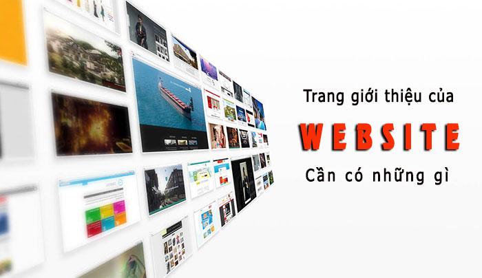Trang giới thiệu của website cần có những gì?