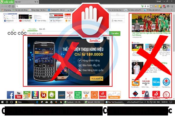 Các cách chặn trang web tự mở trên Cốc Cốc