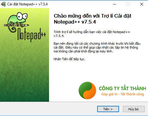 Hướng dẫn cài đặt Notepad++ bước 1