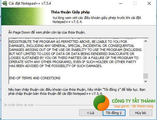 Hướng dẫn cài đặt Notepad++ bước 2