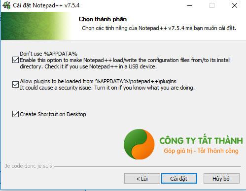 Hướng dẫn cài đặt Notepad++ bước 5