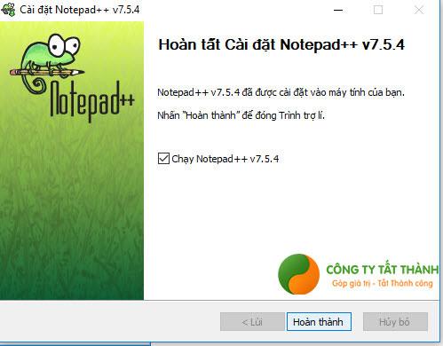 Hướng dẫn cài đặt Notepad++ bước 6