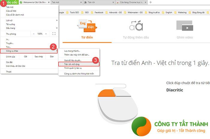 Cách chặn trang web tự mở trên Cốc Cốc bằng tiện ích Adblock Plus
