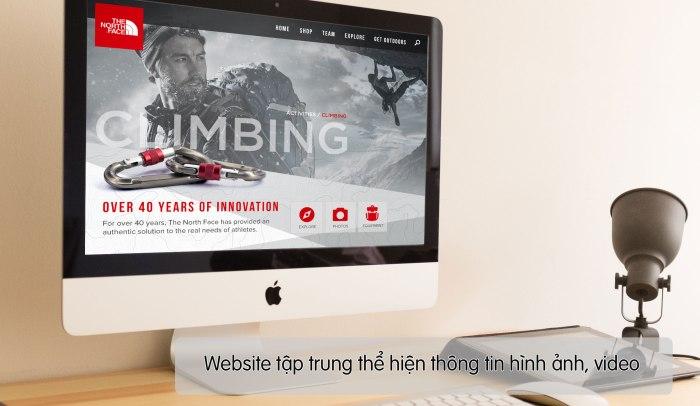Website sẽ tập trung vào thể hiện thông tin, hình ảnh và video