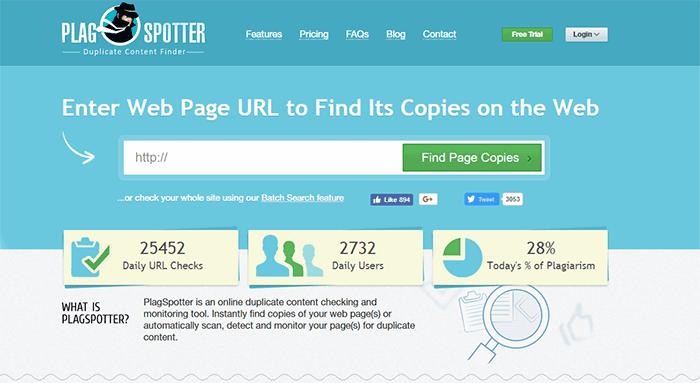 Công cụ kiểm tra trùng lặp nội dung theo từng URL - Plagspottter